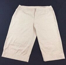 Lane Bryant Womens Plus 26 Kakai Linen 2 Pocket Casual Career Capri Pants NWOT