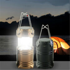 Rechargeable Hand Camping Hiking Lantern Lamp Solar Outdoor Light Golden Black