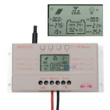 10A 20A 30A LCD MPPT Solar Panel Battery Regulator Charge Controller 12V/24V TO
