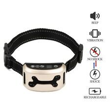 USB Automatic Dog Anti-Bark Stop Barking Training Collar Rechargeable Waterproof