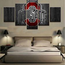 Ohio State Sports Logo Picture Abstract Modern Canvas Prints Wall Art Home Decor