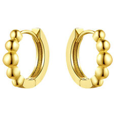 1Pair Fashion Women Vintage Charm Jewelry Five Metal Plated Beads Earrings
