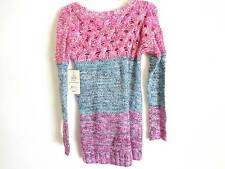 Keds Blue pink large small knitted sweater SZ S NWT