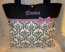 Damask Madison toile diaper bag handbag tote purse personalize baby shower gift