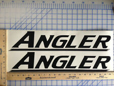 ANGLER BOAT DECALS 18 COLORS AVAILABLE EMBLEM PAIR HIGHEST QUALITY STICKERS