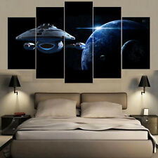 Spacecraft Planet Painting Wall Modern Abstract Canvas Art Poster Home Decor