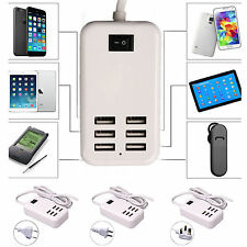 6A 6 Ports USB Portable Home Travel Wall Charger AC Power Adapter