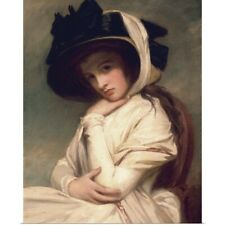 Poster Print Wall Art entitled Emma Hart, later Lady Hamilton, in a straw hat,