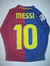 Nike FC Barcelona Lionel Messi Long Sleeve Home Jersey Trikot Kit FCB Argentina