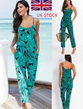 Women V Neck Jumpsuit Party Floral Playsuit Long Trousers Casual Romper Overalls