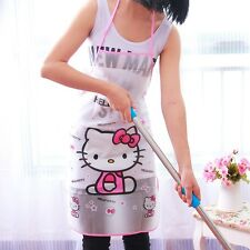 1 Pcs Women Kids Kitchen Cute Cartoon Waterproof Apron Cooking Bib Aprons Vest