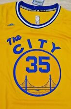 Brand New NBA Golden State Warriors Kevin Durant Adidas Yellow The City Jersey