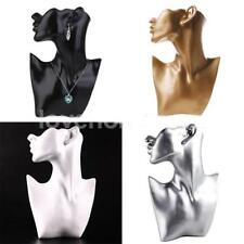Resin Mannequin Head Bust Stand Jewelry Display Necklace Earrings Holder Rack