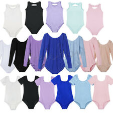 Girls Kids Ballet Dance Dress Gymnastics Skate Leotard Unitard Dancewear Costume