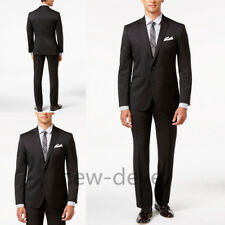 2017 Black Tuxedos Wedding Guest Men's Suit 3 Piece Groom  Party Work Custom