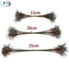 15/20/25cm Stainless Steel Brown Fishing Wire Leader Rigs Trace Line 12KG/26LB