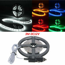 3M 300 SMD 3528 LED Flexible Strip Light Cigarette Charger Cars Trucks Dashboard