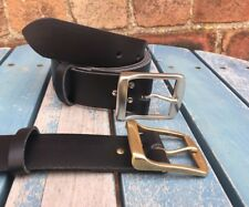 Metro Buckle Leather Belt Choice of Colours Hand Made 100% Real Leather