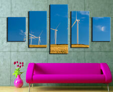Beautiful Sky Windmill Poster Painting Abstract Frame Canvas Wall Art Home Decor