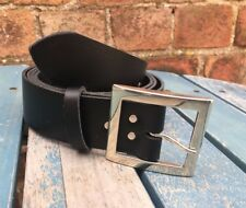 Ben Buckle Leather Belt Choice of Colours Hand Made 100% Real Leather