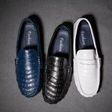 Men's Penny Loafers Moccasin Driving Leather Shoes Slip On Flats Boat Shoes