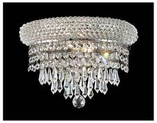 Primo Clear Crystal Sconce w 2 Lights in Chrome [ID 962514]