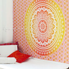 Twin Mandala Ombre Wall Hanging Tapestry Bedspread Boho Bohemian Indian Hippie