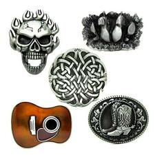 Retro Western Country Cowboy Metal Belt Buckle Boots Metal Guitar Novelty Rodeo