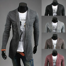 NEW Stylish Mens Slim Fit Solid Sweater Jumpers Cardigan Casual Coats Jackets JO