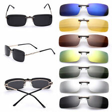 Polarized Sunglasses Clip On Driving Glasses Day Night Vision Lens UV400 Eyewear