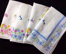 Soft Cotton Handkerchief Large Hanky Gift for Women Embroidered Initial Monogram