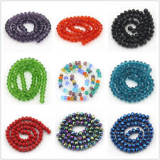 Jewelry Making Beads Wholesale Crystal Glass Rondelle Faceted Spacer Craft