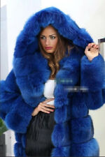 Fashion Womens Hooded Winter Faux Fur Warm Overcoat Outwear Long Coat Jacket