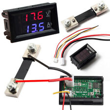 DC 100V 10A 50A 100A Voltmeter Ammeter LED Dual Digital Meter Gauge Tool Useful