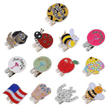 New Assorted Patterns Golf Ball Marker With Magnetic Hat Clip Golf Gifts