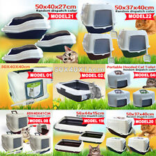 Multi Designs Portable Hooded Pet Cat Toilet Litter Box Tray House Handle Scoop