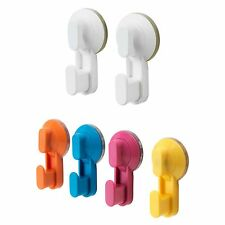 IKEA STUGVIK Hook With Suction Cup White Orange Blue Pink Yellow 2 Or 4 Pack New
