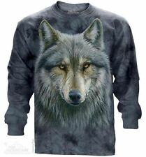 Warrior Wolf Long Sleeve Mountain T-Shirt - Adult S - 3X
