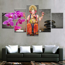 Ganesha God Modern Picture Painting Abstract  Poster Canvas Wall Art Home Decor