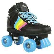Rookie Roller Skates Forever Rainbow V2 Black Retro Roller Derby Girls Adults