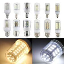 E27/E14 LED 3W/4W/5W/6W/7W/8W SMD Warm/White Corn Spot Light Bulb with Cover