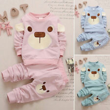 2pcs Toddler Baby Boys Girls Kids Cotton Shirt Tops+ Pants Clothes Outfits Sets