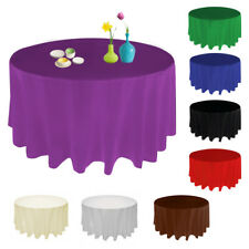 90'' Round Satin Tablecloth Table Cover Wedding Party Restaurant Banquet New