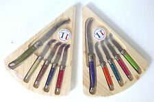 Laguiole Jean Dubost 5 Piece Cheese Knife Set Multicolor on Board Choice New