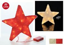 LED Sisal Star Christmas Star Illuminated Christmas Decoration Battery Powered