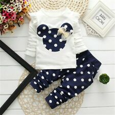 2pcs Boys Girls Outfits Set Infant for Women Toddler Baby Clothes Tops+Pants