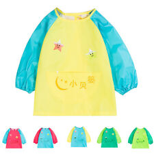 Baby Toddler Waterproof Long Sleeve Smock Children Feeding Apron 5 Colors