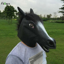 Creepy Full Face Head Horse Mask Rubber Latex Animal Adult Halloween Costume