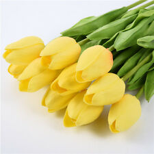 10pcs Silk Artificial Flowers Tulip Bridal Decor Flowers Wedding Room Decoration