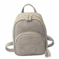 Women Pu Leather Vertical Square Adjustable Strap Soft Handle Backpack